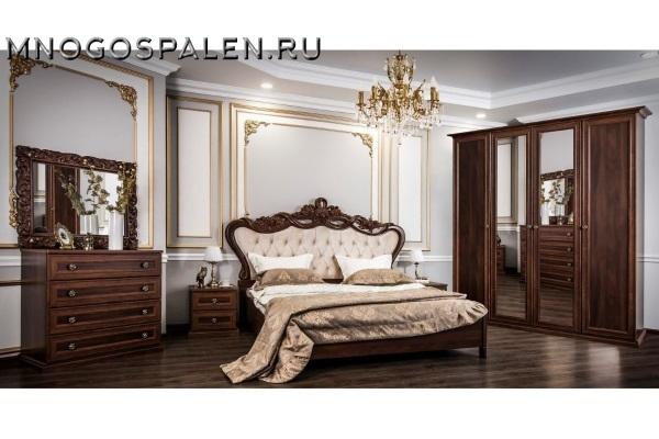 СПАЛЬНЯ АФИНА КАРАВАДЖО купить в салоне-студии мебели Барселона mnogospalen.ru много спален мебель Италии классические современные