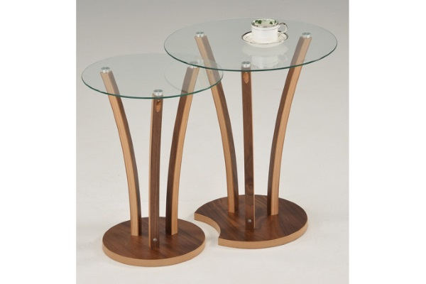 Комплект  MK-6332 из 2 столиков  Орех купить в салоне-студии мебели Барселона mnogospalen.ru много спален мебель Италии классические современные